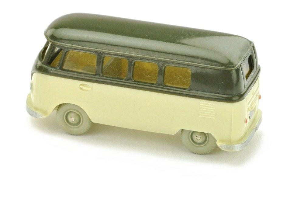 VW T1 Bus, olivgruen/hellgruenbeige - 2