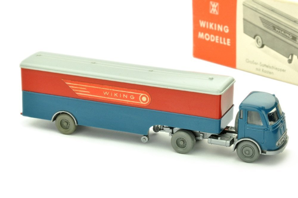 Koffer-Sattelzug MB Pullman Wiking (im Ork)