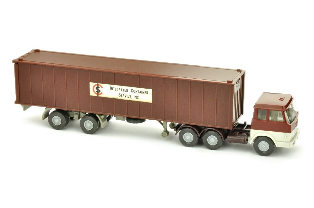 Werbemodell ICS/H - 40ft-Container schwarzrot