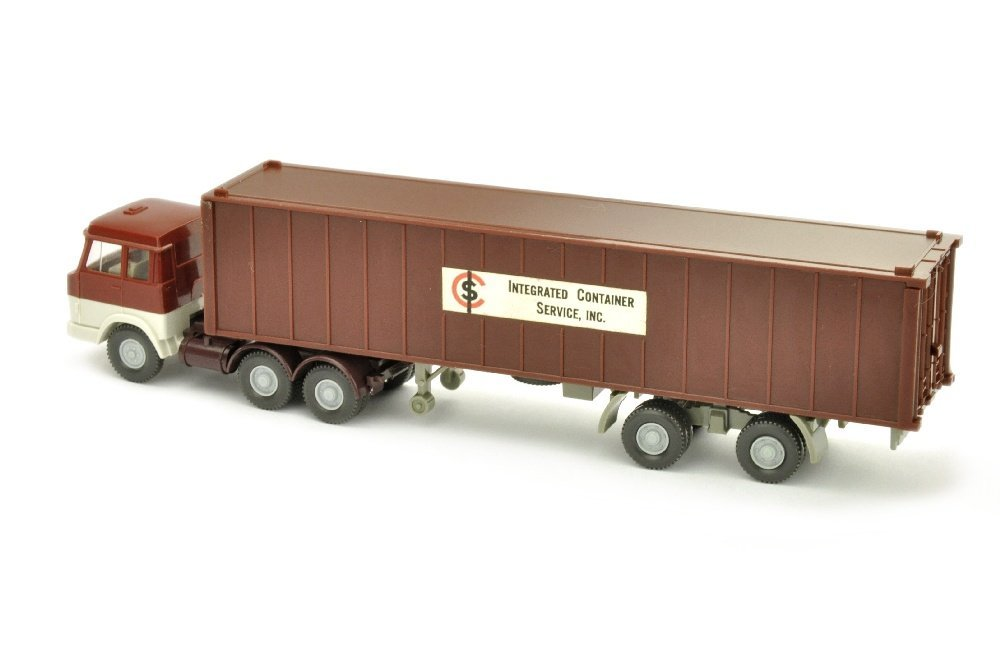 Werbemodell ICS/H - 40ft-Container schwarzrot - 2