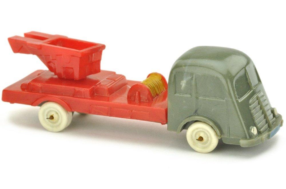 Leiter- oder Kranwagen Fiat, betongrau/misch-rot