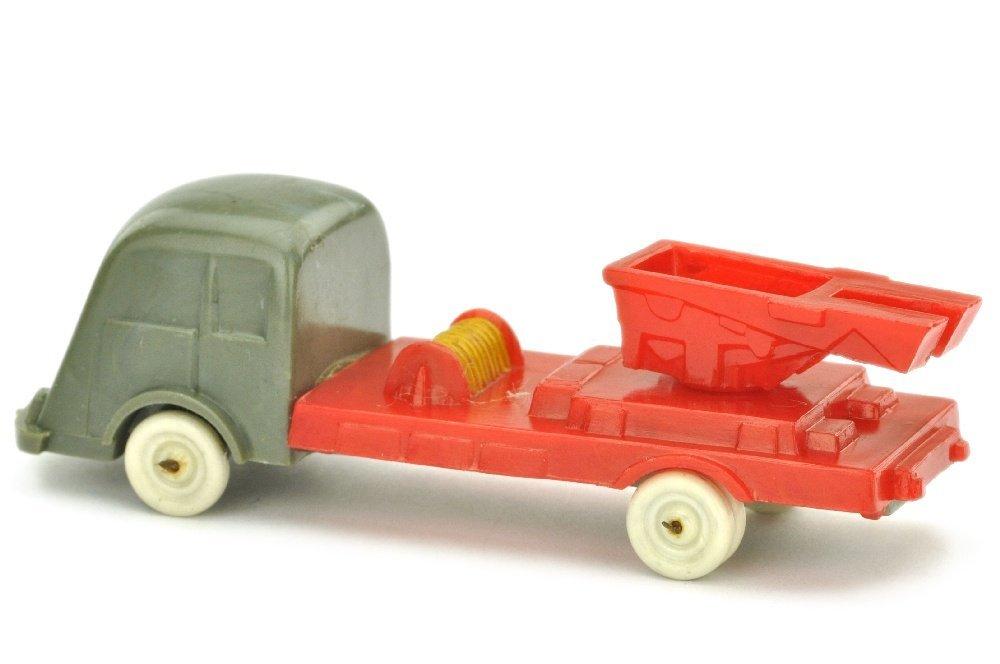 Leiter- oder Kranwagen Fiat, betongrau/misch-rot - 2