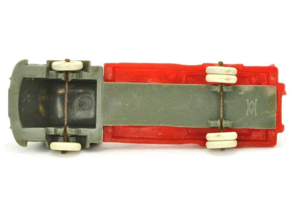 Leiter- oder Kranwagen Fiat, betongrau/misch-rot - 3