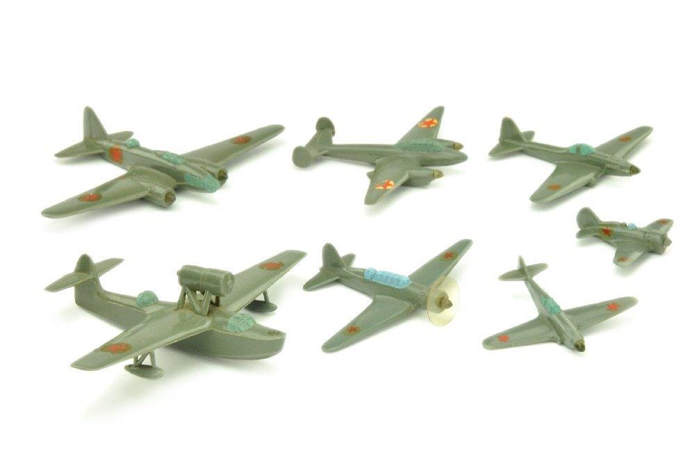 Konvolut 7 russische Flugzeuge