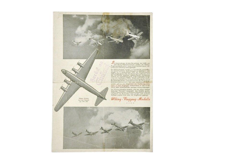 Flugzeug-Preisliste (um 1941)