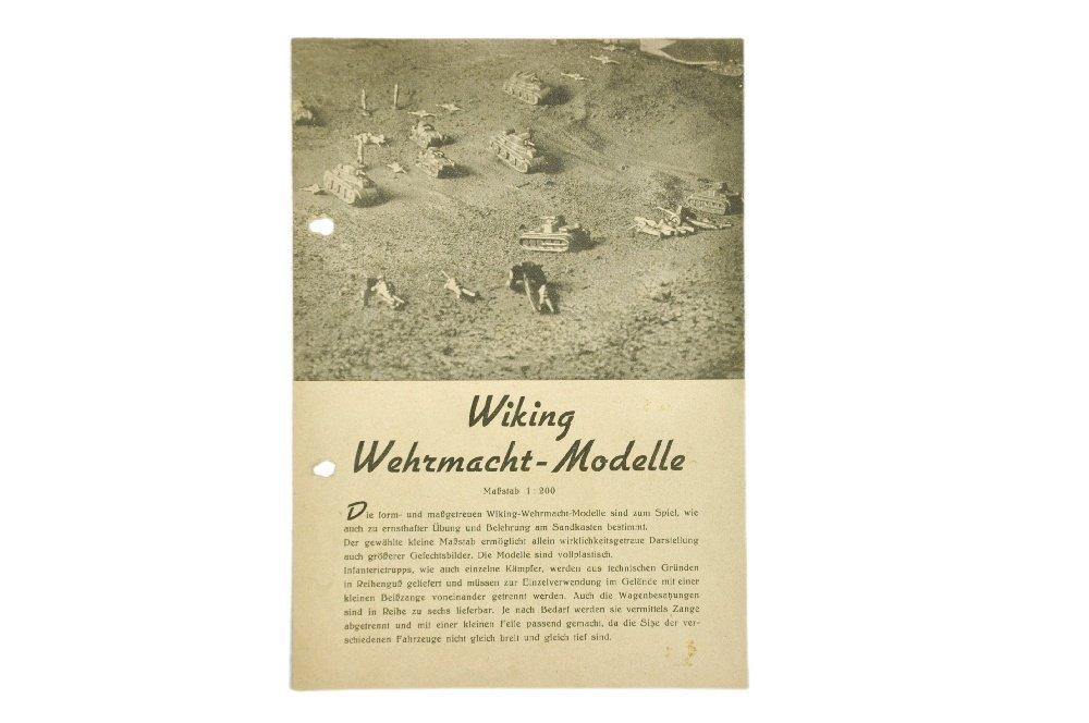 Wehrmachtsmodell-Preisliste (um 1940)