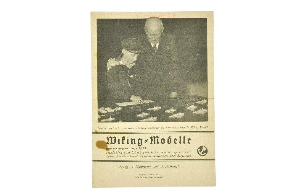 Schiffs-Preisliste Sommer 1937