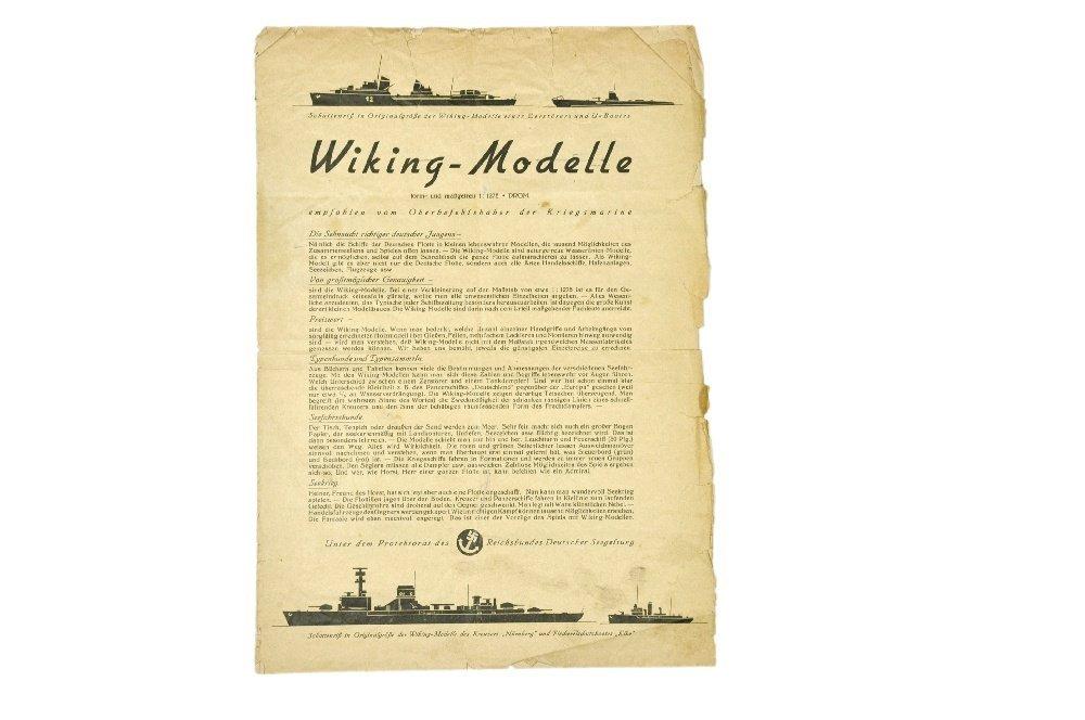 Schiffs-Preisliste (um 1939)