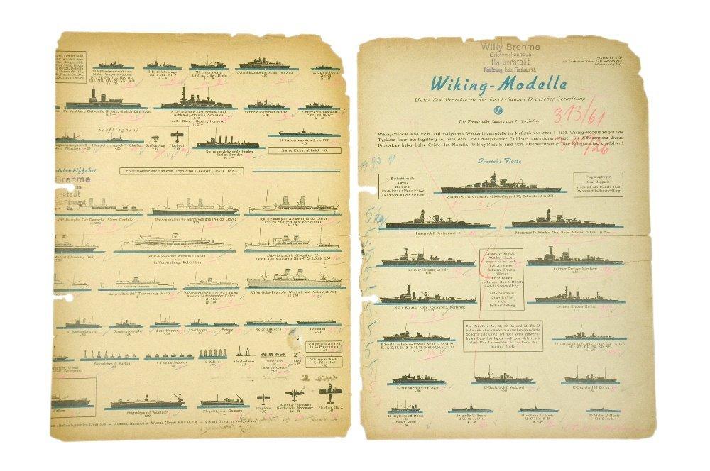 Schiffs-Preisliste Sommer 1939