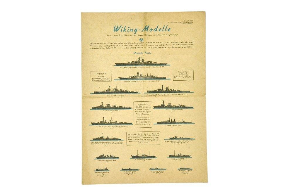 Schiffs-Preisliste Herbst 1939