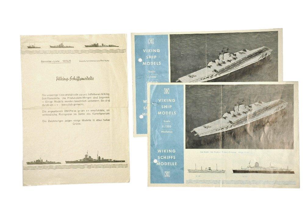 Konvolut 3 Schiffspreislisten der 60er/70er Jahre