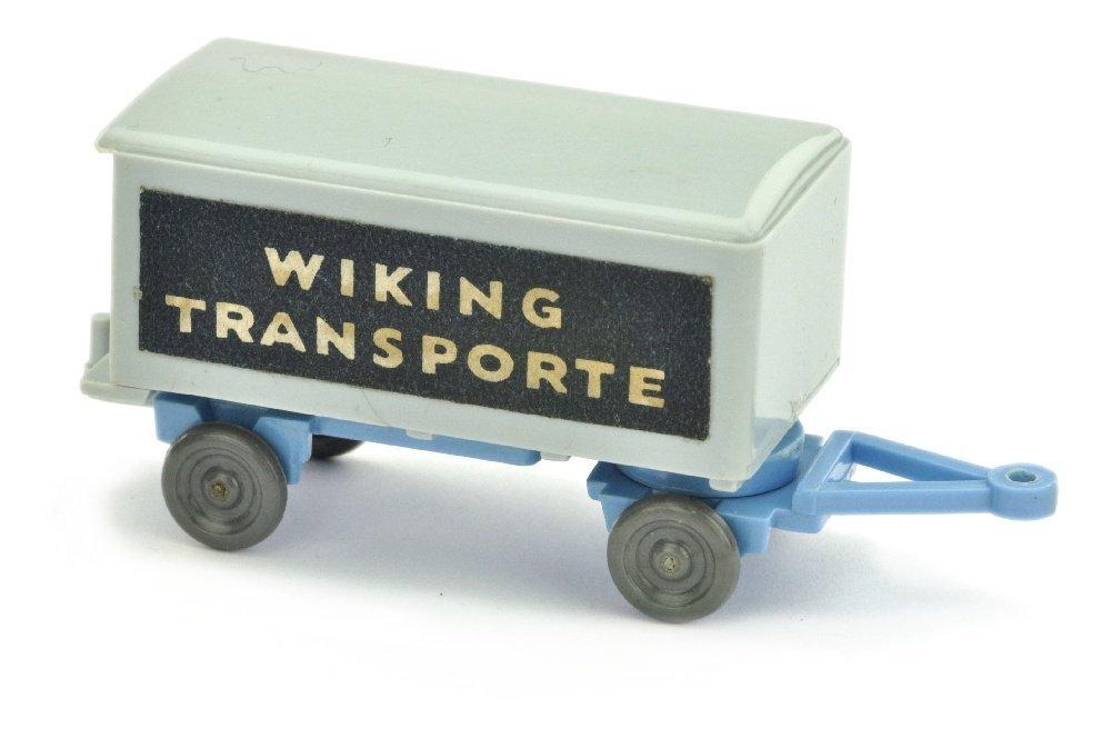 Anhaenger Wiking Transporte, silbergr./signalblau