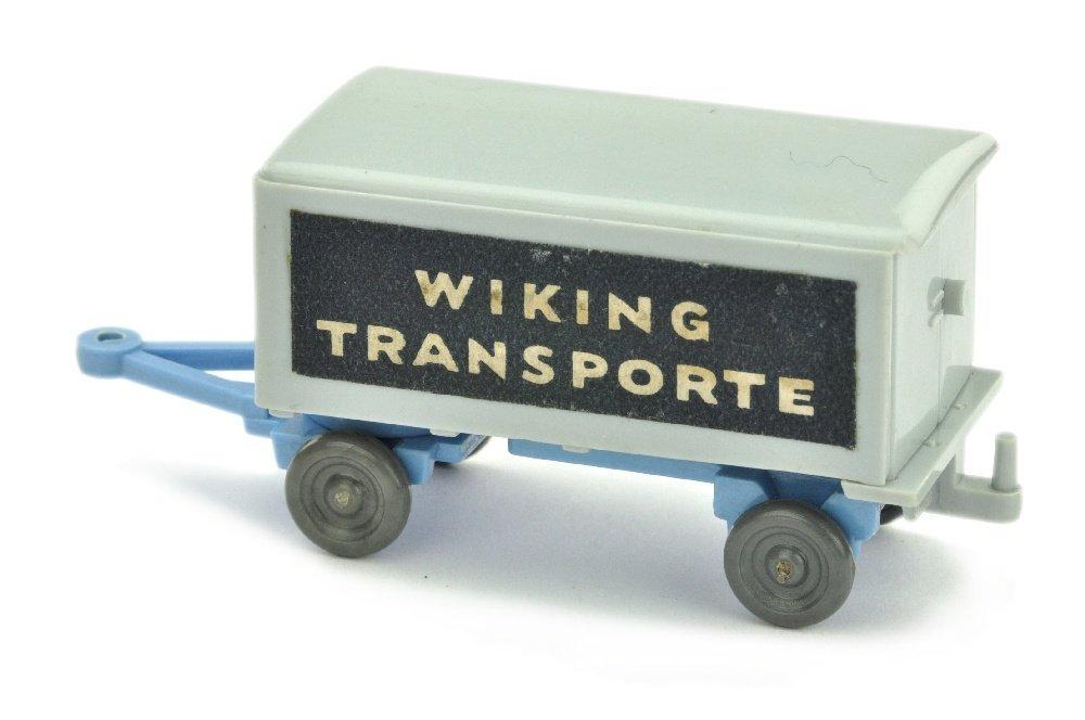 Anhaenger Wiking Transporte, silbergr./signalblau - 2
