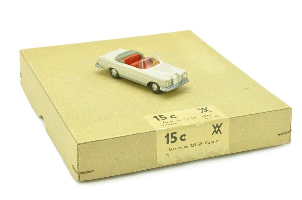 Haendlerkarton mit einem MB 280 SE Cabrio