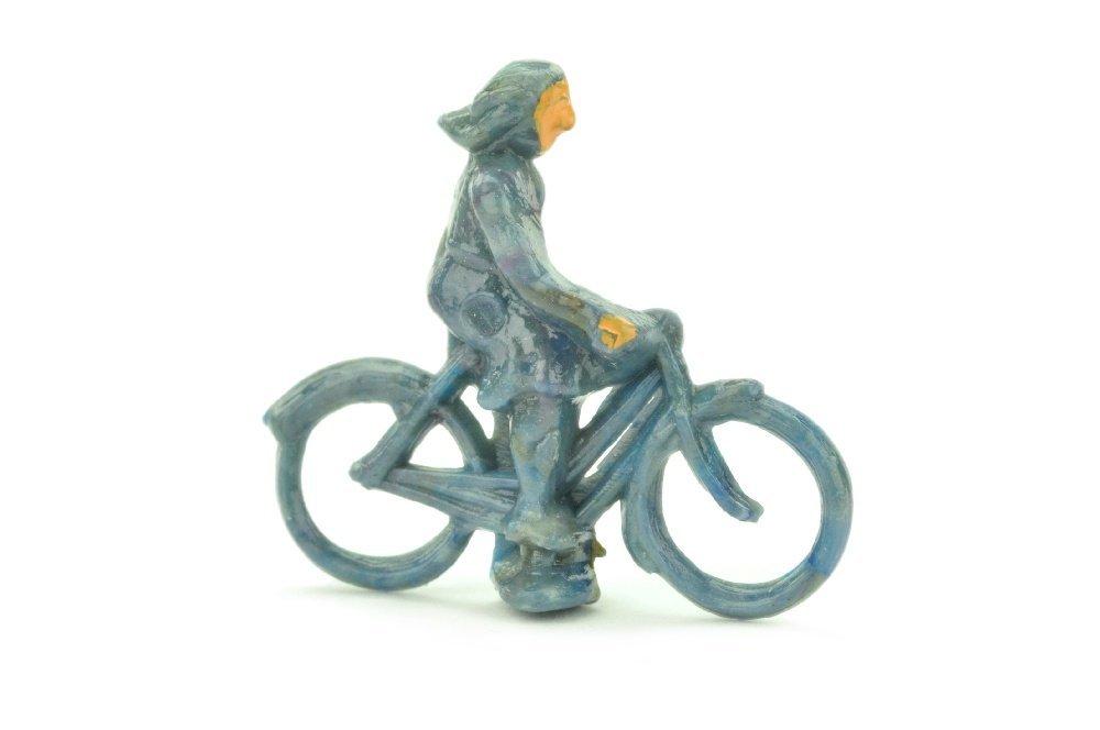 Radfahrer (weiblich), mattgraublau