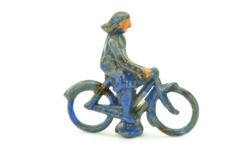 Radfahrer (weiblich), misch-blau