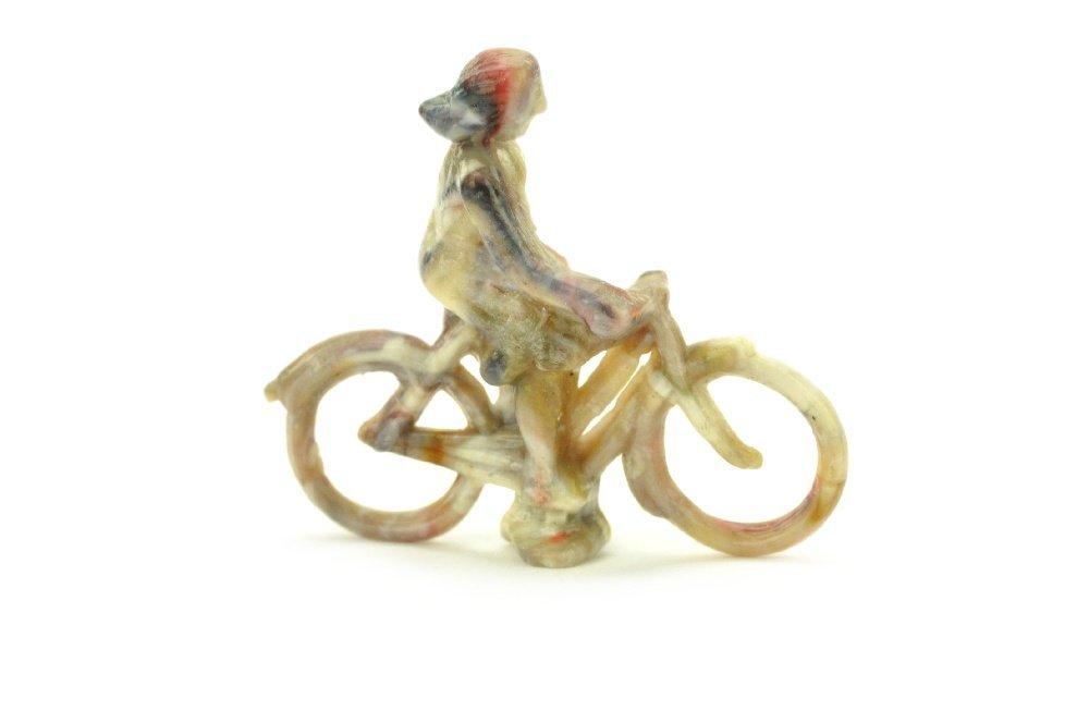 Radfahrer (weiblich), misch-bunt