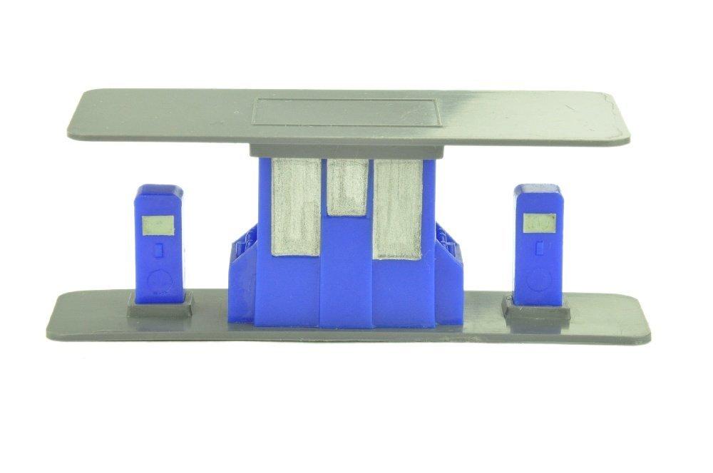 Grosse Tankstelle, basaltgrau/ultramarin (2.Wahl)