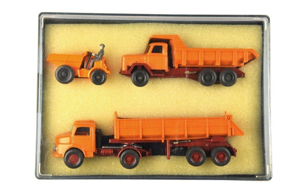 Geschenkpackung Baufahrzeuge (um 1973)