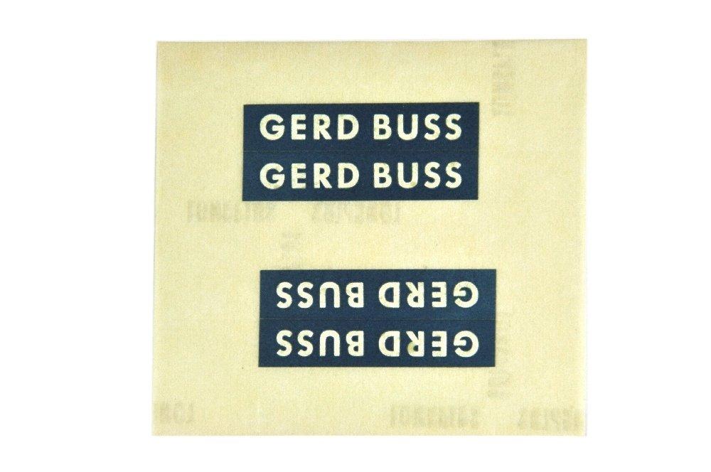 Restposten Aufkleber fuer Werbemodell Buss