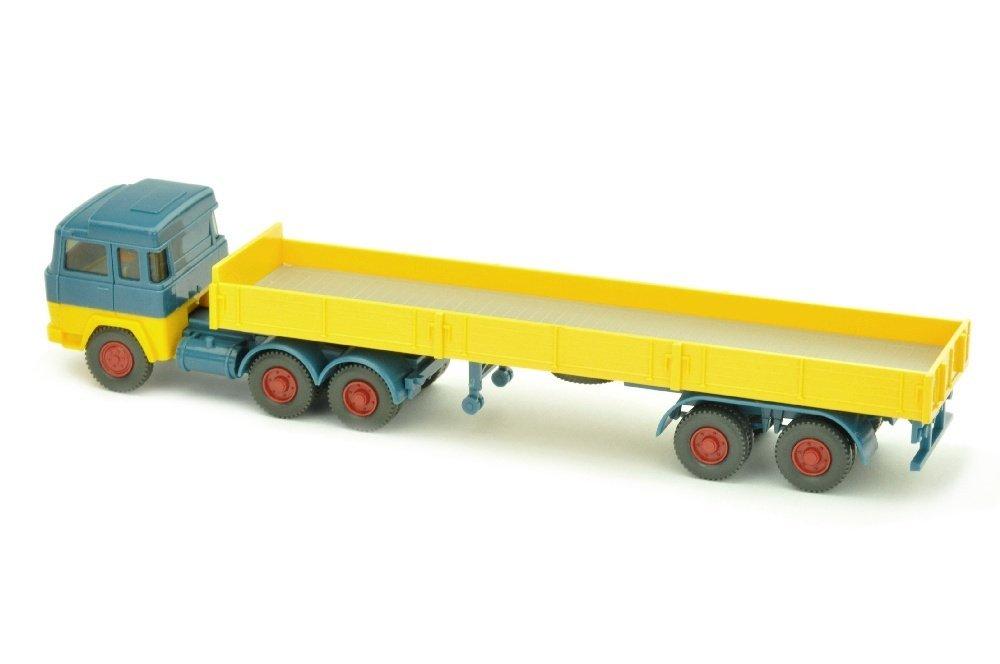 Pritschen-Sattelzug Magirus 235, azurblau/gelb - 2
