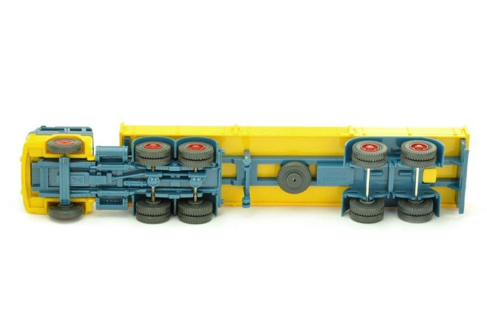 Pritschen-Sattelzug Magirus 235, azurblau/gelb - 3