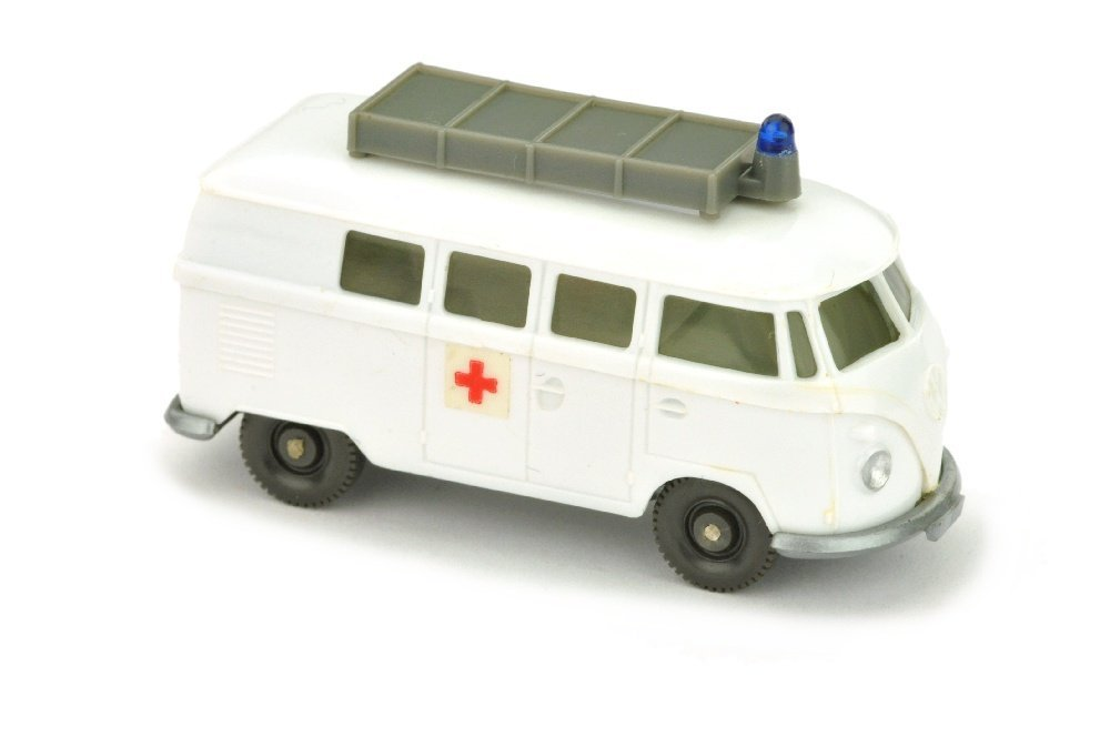 VW T1 Rotkreuz mit Aufbau (neu, Chassis silbern)