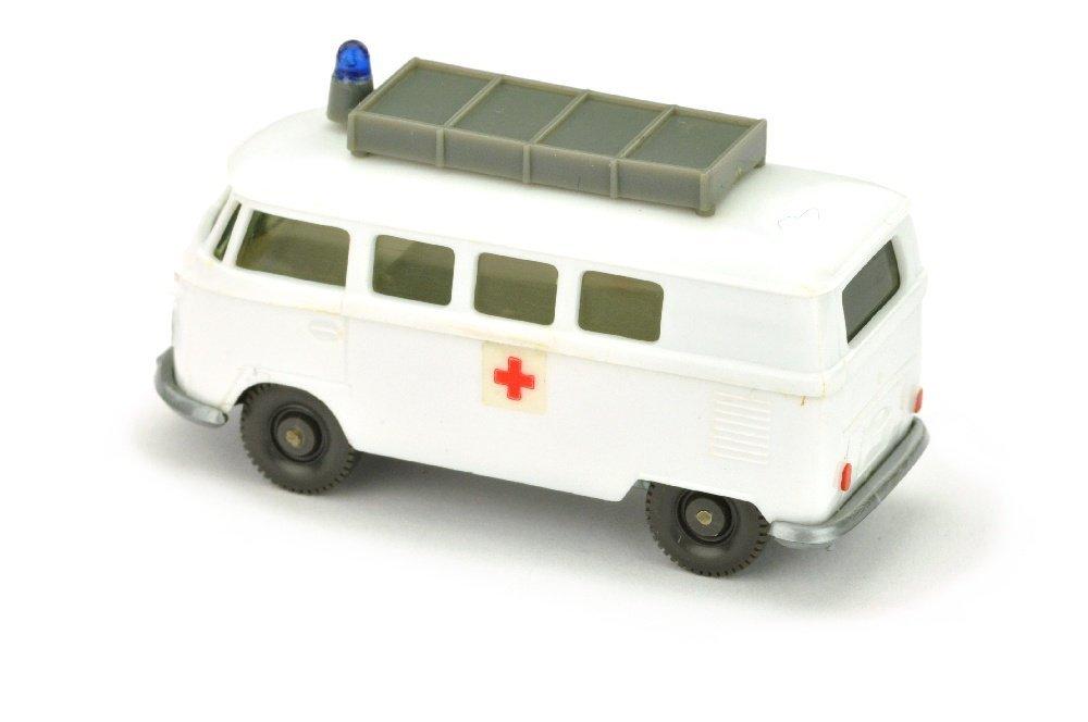 VW T1 Rotkreuz mit Aufbau (neu, Chassis silbern) - 2