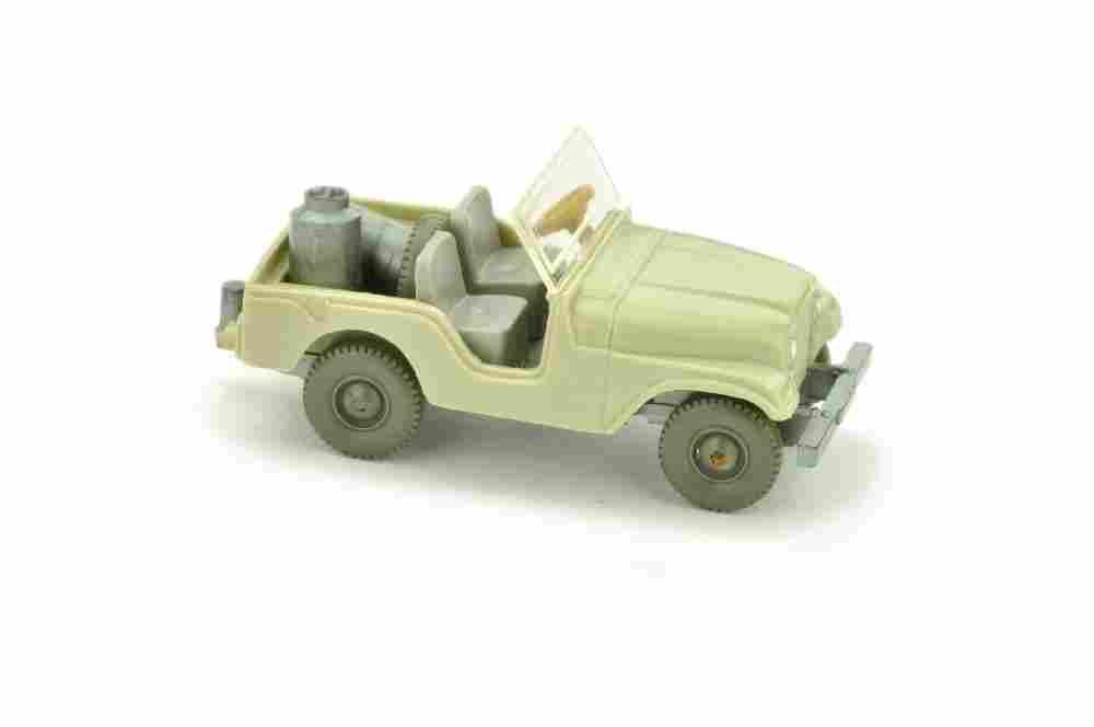 Jeep mit Milchkannen, hellgelbgrau (Version /1)