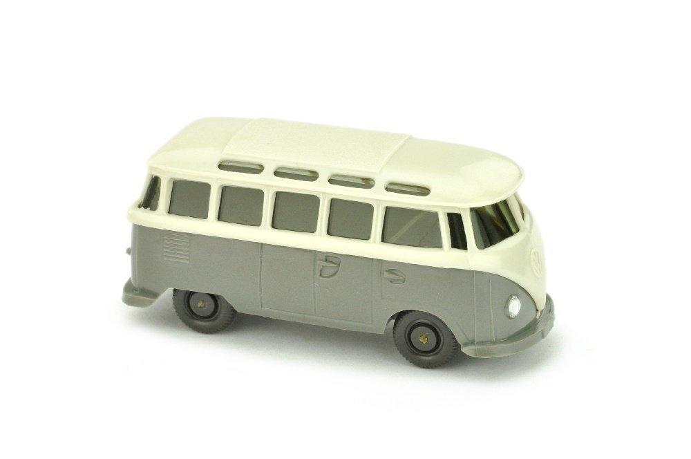 VW T1 Sambabus, perlwess/betongrau