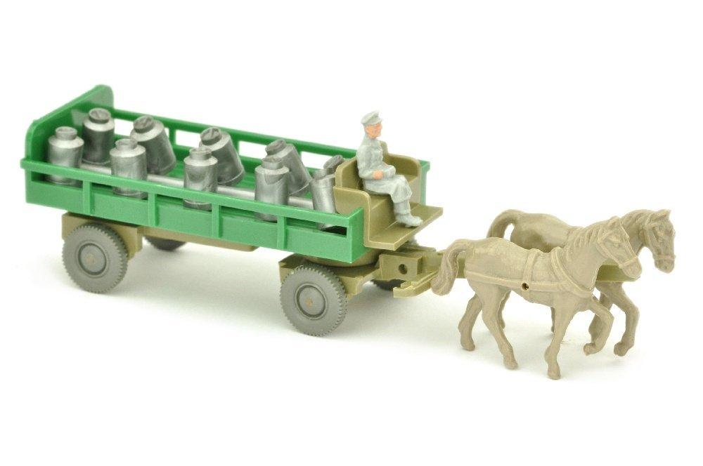 Pferdewagen (Typ 3), gruen/sandbraun