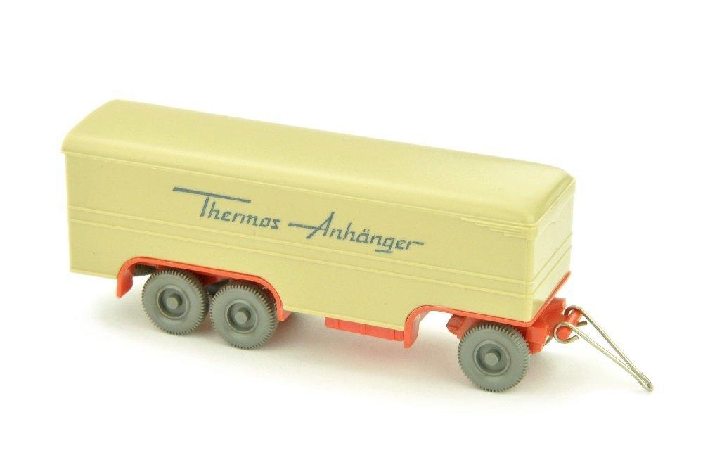 Thermos-Anhaenger, gruenbeige/orangerot