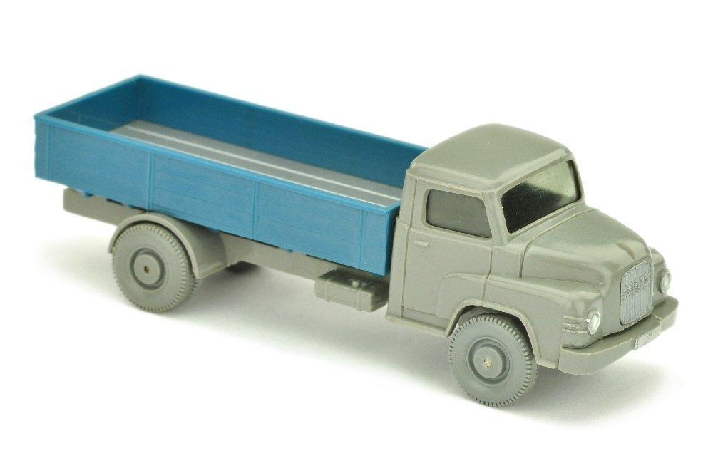 MAN Kurzhauber, betongrau/azurblau