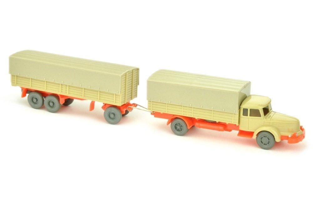 Lastzug Krupp-Titan, gruenbeige/leuchtorange