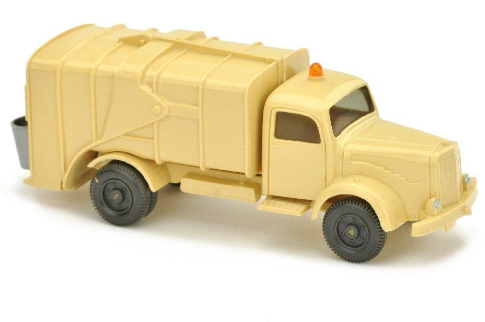 Muellwagen MB 5000, hellbeige (mit Gelblicht)