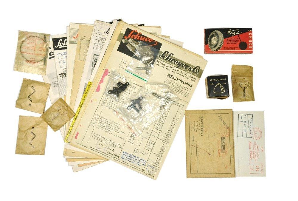 Schuco - Literatur und Ersatzteile (1939 - 1960)