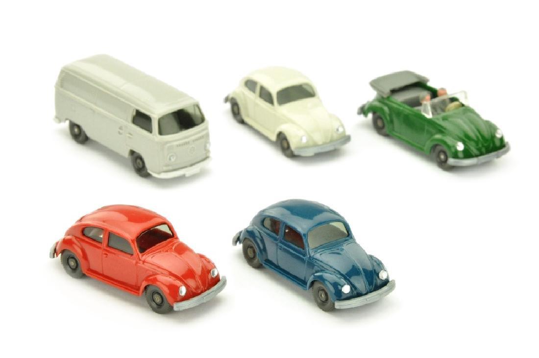 Konvolut 5 Volkswagen-PKW der 70er Jahre