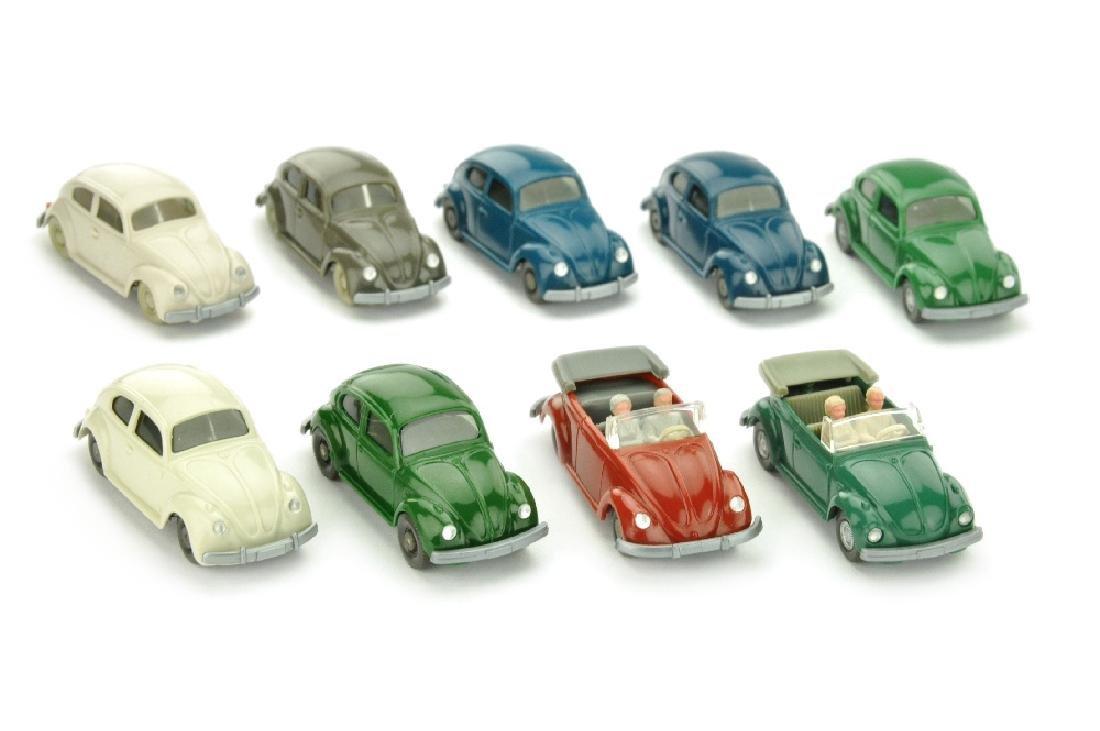 Konvolut 9 VW-PKW der 60er/70er Jahre