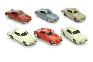 Konvolut 6 Karmann Ghia der 60er/70er Jahre