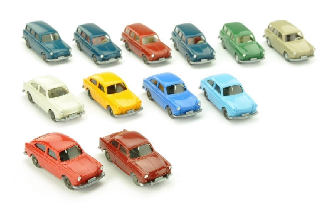Konvolut 12 VW-PKW der 60er/70er Jahre