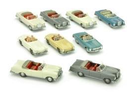 Konvolut 9 Mercedes-PKW der 60er/70er Jahre