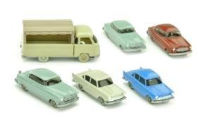 Konvolut 6 Borgward-PKW der 60er Jahre