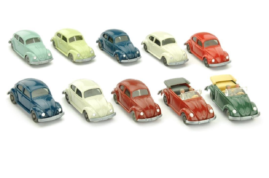 Konvolut 10 VW Kaefer der 60er/70er Jahre