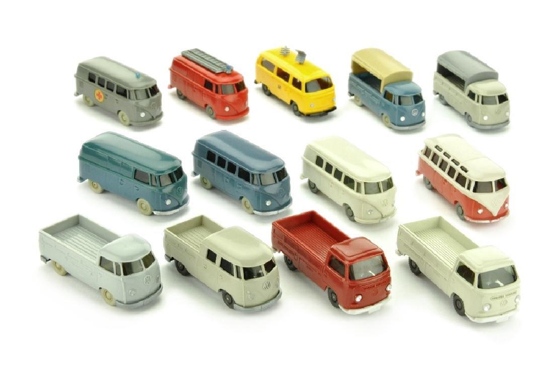Konvolut 13 VW T1/T2 der 60er/70er Jahre