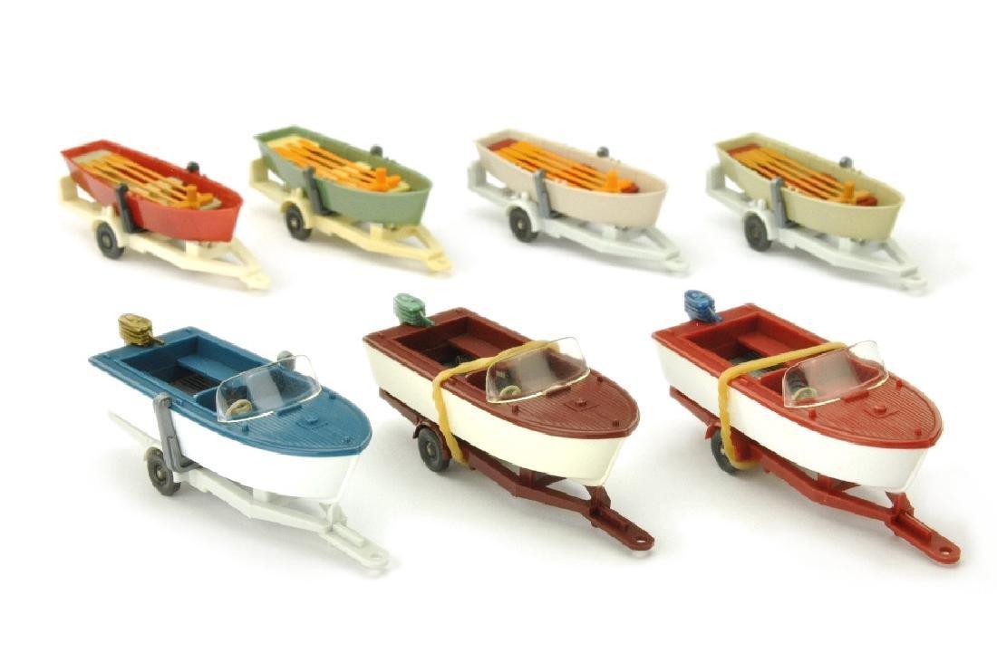 Konvolut 7 Bootsanhaenger der 60er/70er Jahre