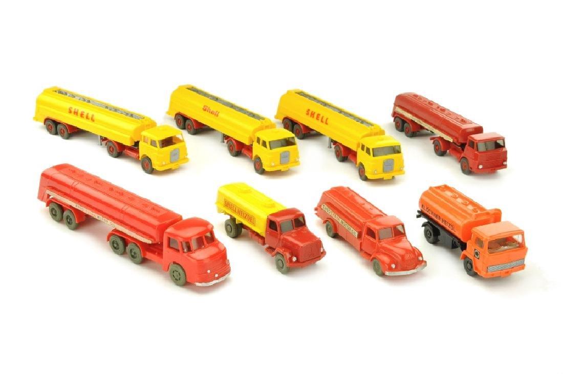 Konvolut 8 Tankwagen der 60er/70er Jahre