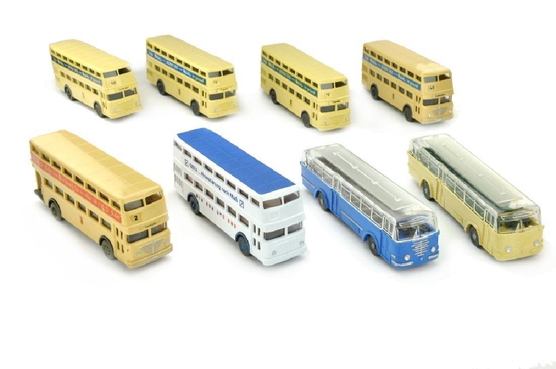 Konvolut 8 Omnibusse der 60er/70er Jahre