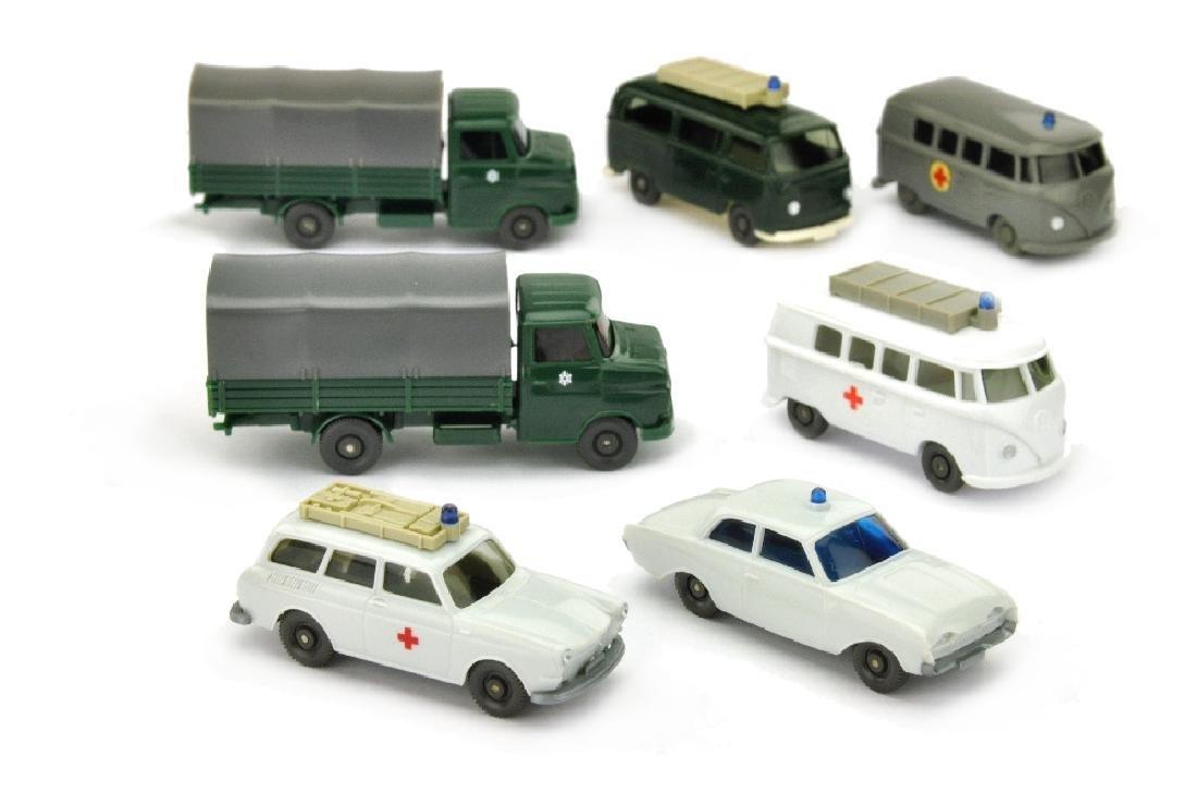 Konvolut 7 Einsatzwagen der 60er/70er Jahre