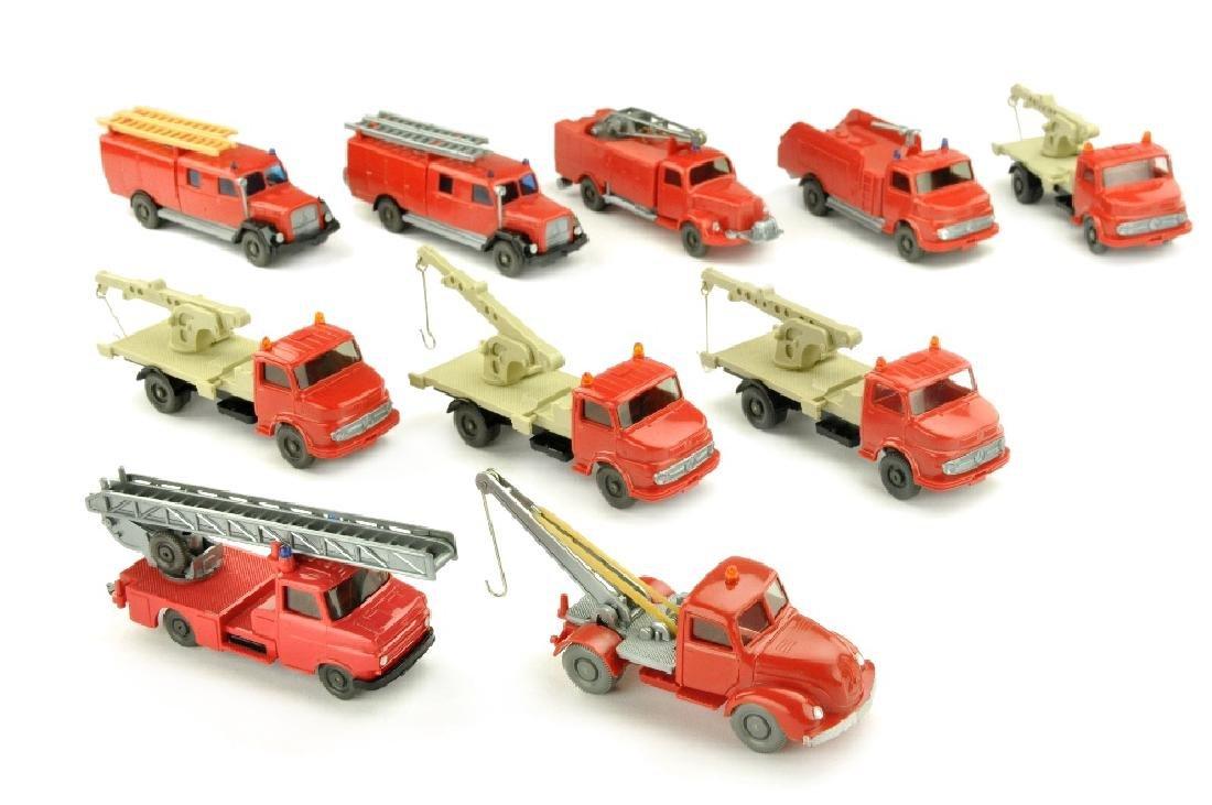 Konvolut 10 Feuerwehren der 60er/70er Jahre