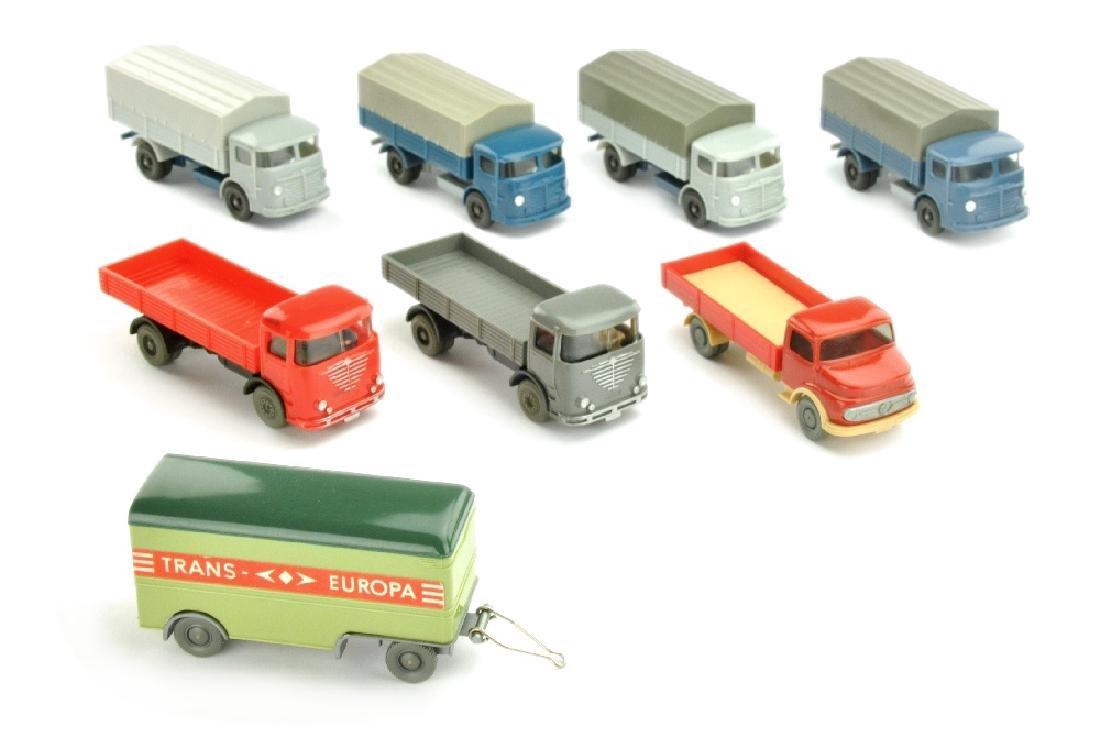 Konvolut 8 Modelle der 60er Jahre